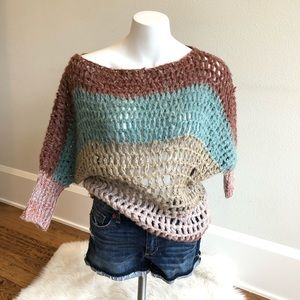 Umgee Loose Knit Sweater Short Sleeve